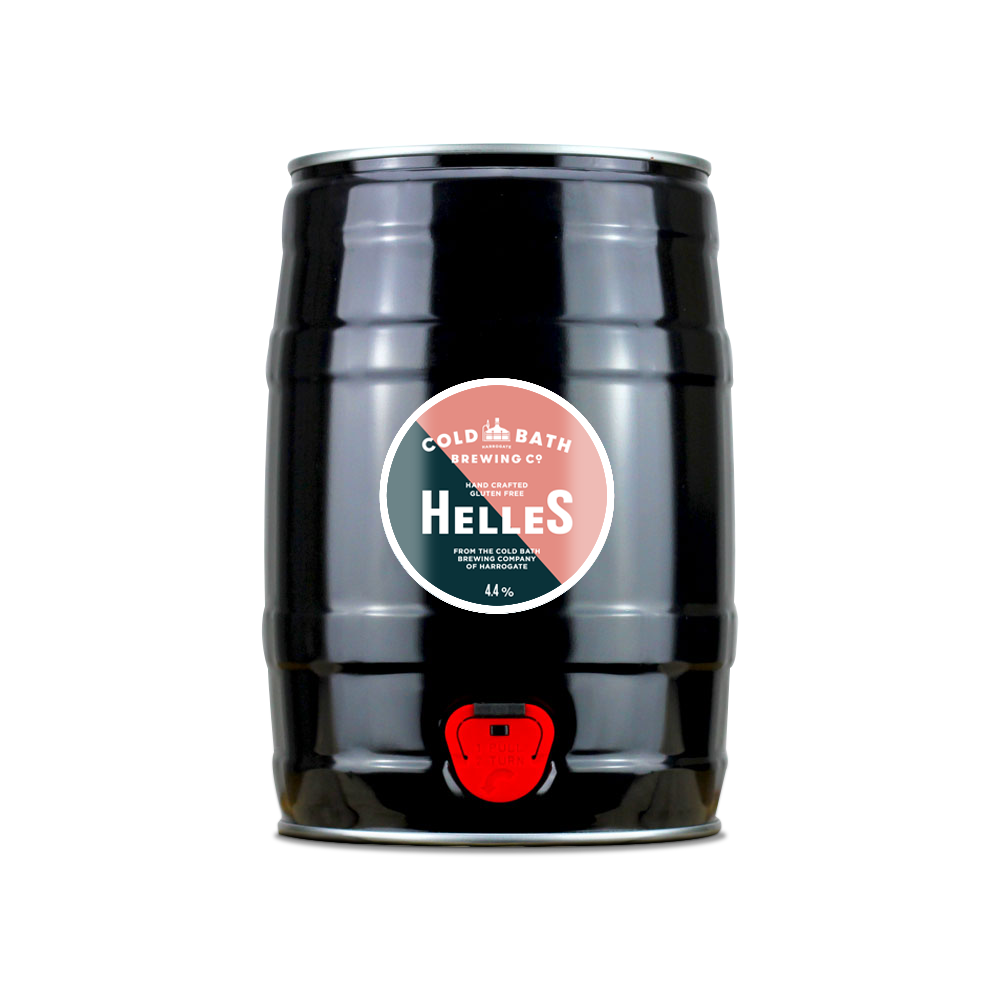 Cold Bath Brewing Co Hand Crafted Helles Mini-Keg