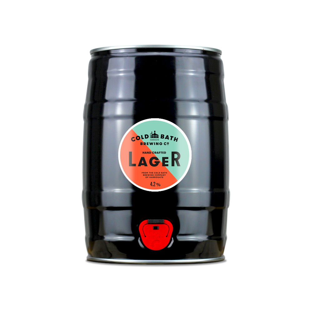 Cold Bath Brewing Co Hand Crafted Lager Mini-Keg