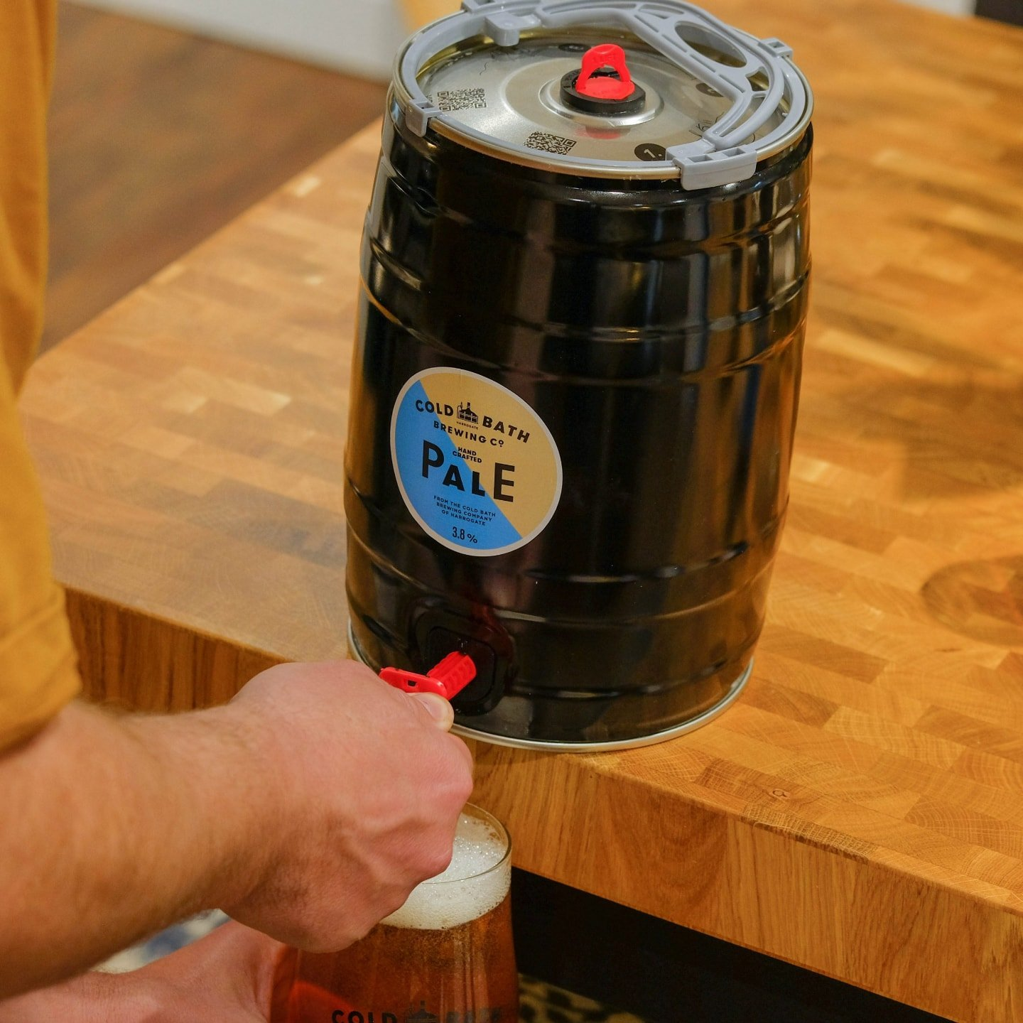 Cold Bath Brewing Co Hand Crafted Pale Mini-Keg