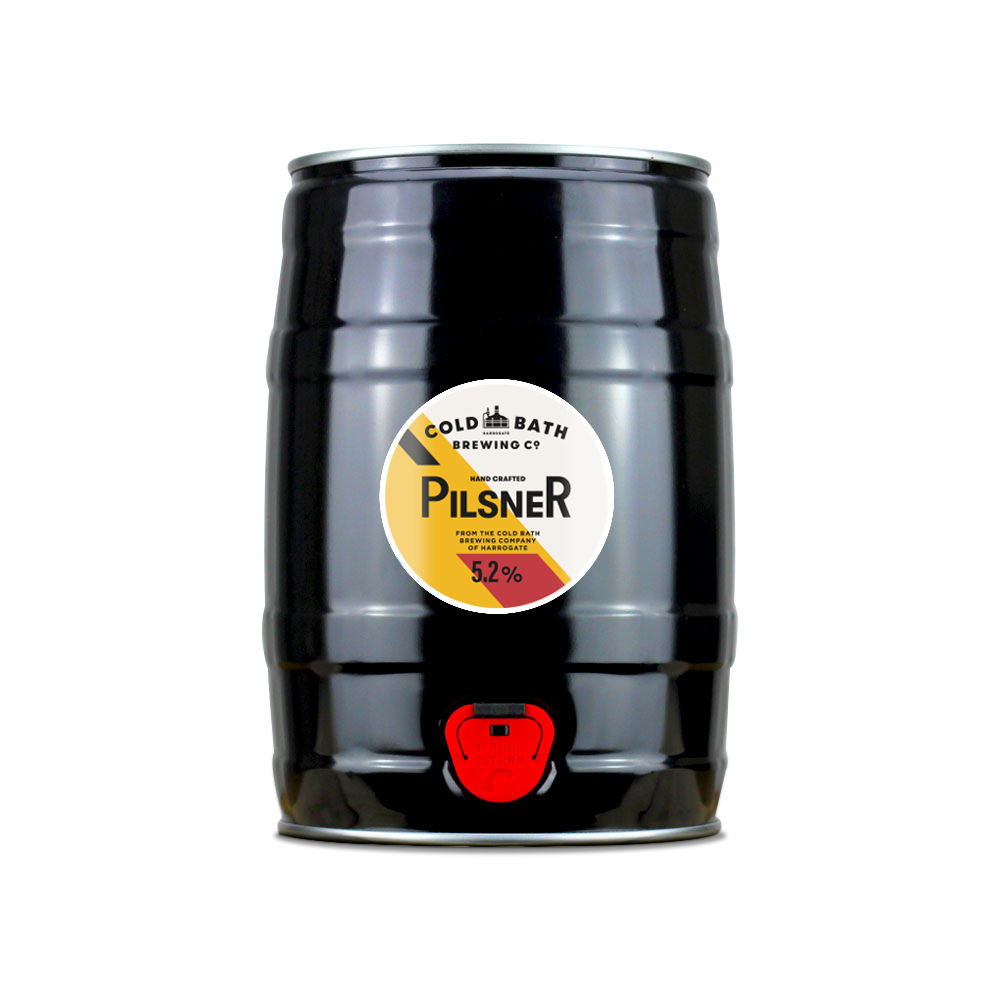 Cold Bath Brewing Co Hand Crafted Pilsner Mini-Keg